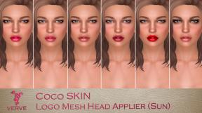 Verve Coco Logo Mesh Head Sun